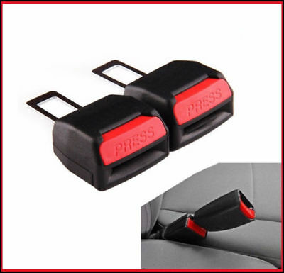 2 x Seat Safety Belt Buckle Adapter Extender FOR Audi VW Vauxhall Bmw Mercedes