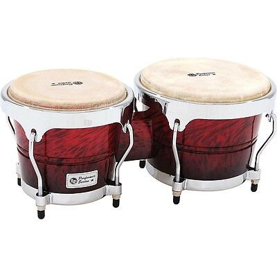 LP Performer Series Bongos with Chrome Hardware Red Fade LN