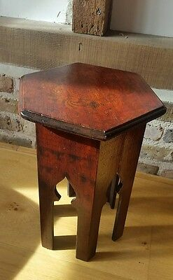 small antique carved solid wood side table