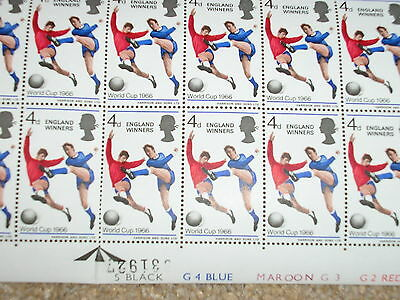 England 1966 World Cup Winners - Bobby Moore Vintage Stamps -RARE COMPLETE SHEET