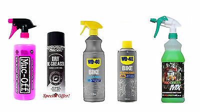BICYCLE + CHAIN CLEANER 1 x Cycle Bike Clean 1 Litre + 1 x 500ml Degreaser Spray