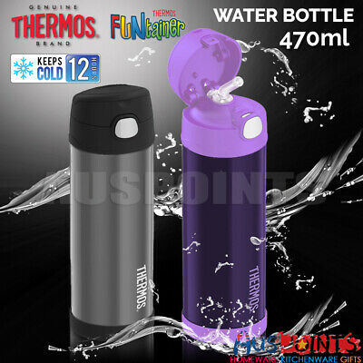 NEW 100% GENUINE Thermos Funtainer 470ml Drink Water Bottle Vacuum Insulated