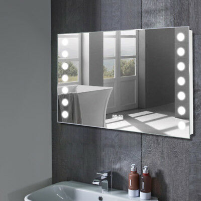 roca bathroom mirror with integrated light picclick uk. Black Bedroom Furniture Sets. Home Design Ideas