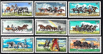 Hungary 1968 Horse Breeding complete set of stamps MNH