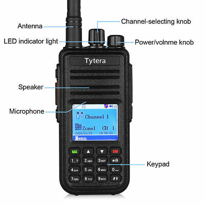 TYT MD-380 DMR UHF 400-480Mhz Two-Way Digital Radio Compatible with Motorola