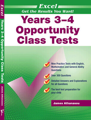 Excel Years 3-4 Opportunity Class Tests 9781740200141