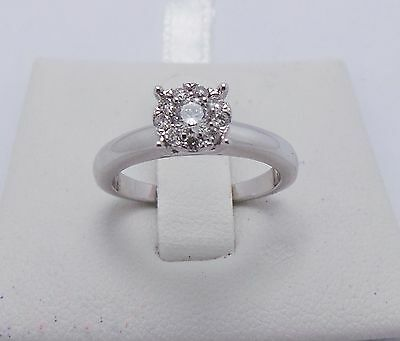 18ct WHITE GOLD DIAMOND RING VALUED @ $1627 COMES WITH VALUATION