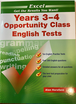 Excel Years 3-4 Opportunity Class Reading Tests - NEW 9781740200127