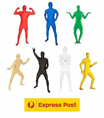 Unisex Adult Morph Suit Lycra Spandex Skin Zentai Bodysuit Party Jumpsuit Costum