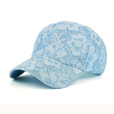 79d43acbf48 Woman Female Lace Floral Adjustable Outdoor Sun-proof Hat Baseball Bucket  Cap