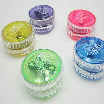 Light Up YoYo Flashing LED Glow Colorful Yo-Yo Spinner Return Top Kids Party Toy