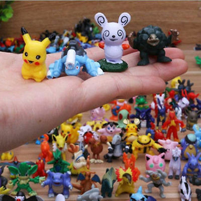 144StylesMixed Lots Pokemon Figures Pikachu Monster Mini Pearl xmas Toy- RandoM
