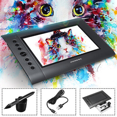 HUION Pro 10*6.25'' Digital USB Art Graphics Drawing Writing Board Tablet Pen AU