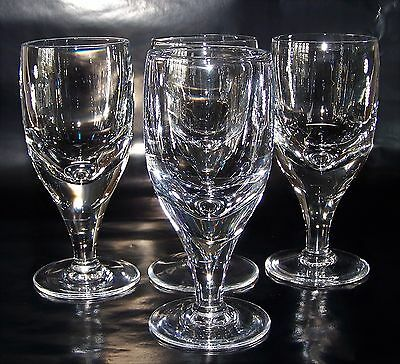 Set of 4 Weighty, Hand Blown, Vintage Crystal Glass Goblets - 500g - 150 ml