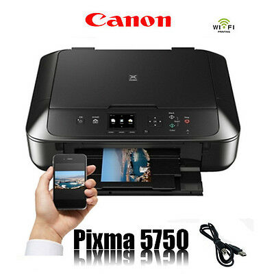 Canon Pixma Mg5750 Multifunktions Drucker Scanner Kopierer Wlan Wifi * Neu *