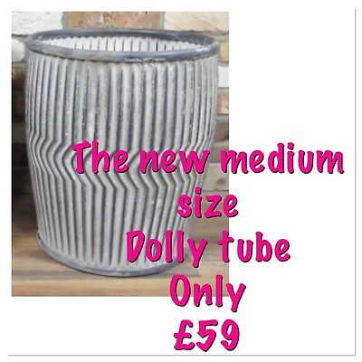 Brand New Med Size Old School Dolly Tub Vintage Style Metal Make Great Planters