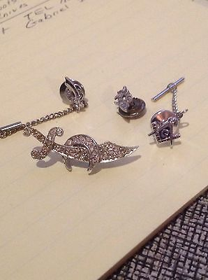 4 Vintage MASONIC SHRINERS TIE TACK  2 Sterling LAPEL PIN Collectible Jewelry
