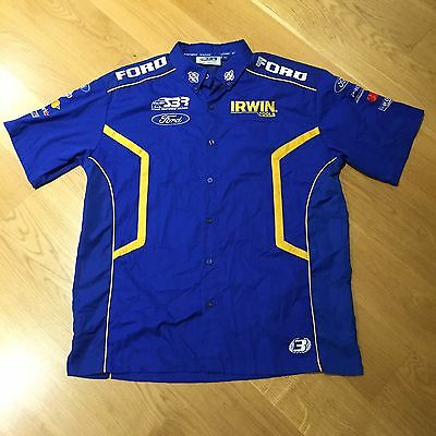 Official Ford Stone Brothers Racing V8 Super Cars Shirt Blue Men's Size 2XL XXL