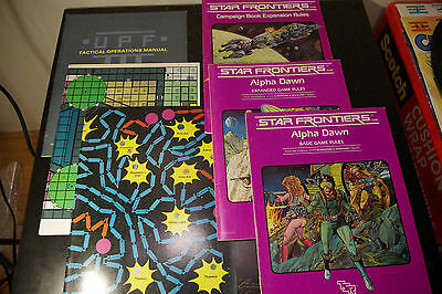 Star Frontiers Lot (TSR, 1982) Rules and Campaign Lot / Alpha Dawn / Maps