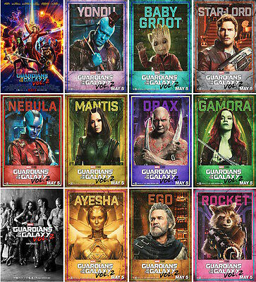 24 postcards of guardians of the galaxy moive poster star wars space travel new
