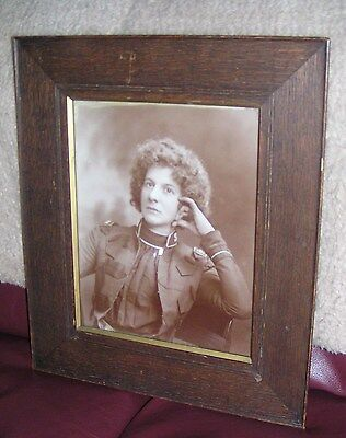 Salvation Army-  DRAMATIC LARGE FRAMED PORTRAIT PHOTO OF EVANGELINE BOOTH