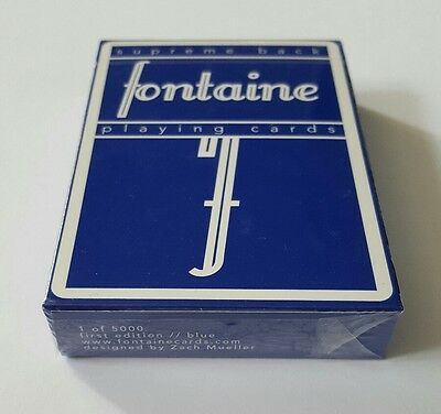 New Blue Fontaine Playing Cards Limited Edition Deck