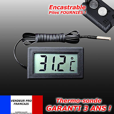 Thermometre Digitale A Sonde Encastrable Congelateur Aquarium Refrigerateur