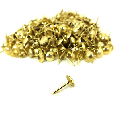 1000 x BRASS PLATED UPHOLSTERY NAILS / TACKS / STUDS