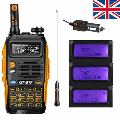 UK Baofeng GT-3TP Mark III V/U 136-174/400-520MHz Tri-Power 1/4/8W 2-Way Radio