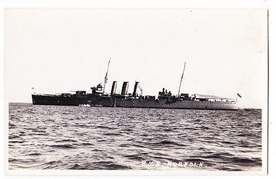 Early Postcard, Ships, H M S  Norfolk, RP