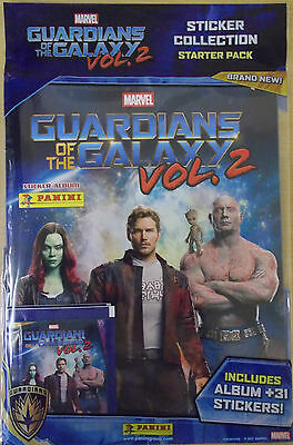 Guardians Of The Galaxy Vol 2 ~ Panini Sticker Album Starter Pack & 31 Stickers