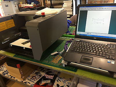roland egx300 engraving machine with lap top and software