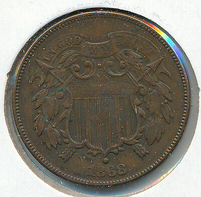 USA 2 Cents 1868 - XF
