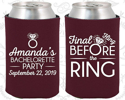 Bachelorette Party Coozies Coozie Favors (60074) Final Fling Before The Ring
