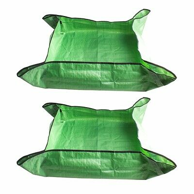 2x LARGE Potting Planting Mats Sheets Bag Woven Outdoor Indoor 80x80cm Mess Free