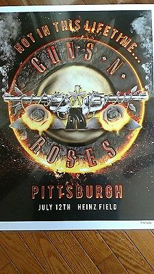 GUNS N ROSES PITTSBURGH POSTER / Heinz Field 6/12/16  NOT IN THIS LIFETIME TOUR