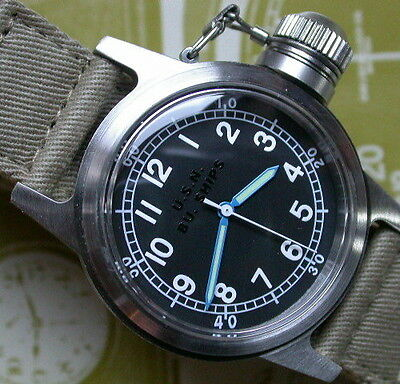 WWII Frogman SEAL Navy Dive Type Canteen Military Watch NEW IN BOX UDT Team 6