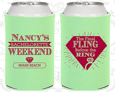 Final Fling before the ring Favors, Printed Bachelorette, Party Favor (60129)