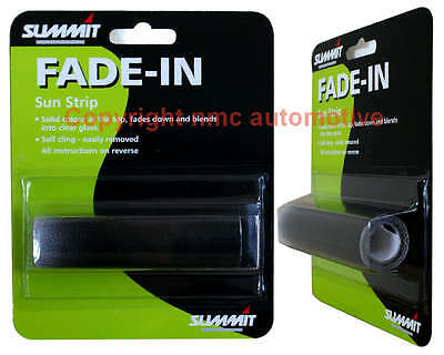 summit fade in sunstrip self clinging internal windscreen fit fade to black..