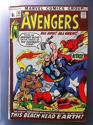 The Avengers #93 1971 Marvel Bronze Age Comic Nice Condition