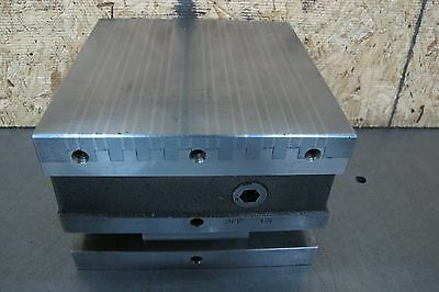 HERMANN SCHMIDT 6 x 6 MAGNETIC SINE PLATE /  6 x 6 MAGNETIC CHUCK SQUARING BLOCK