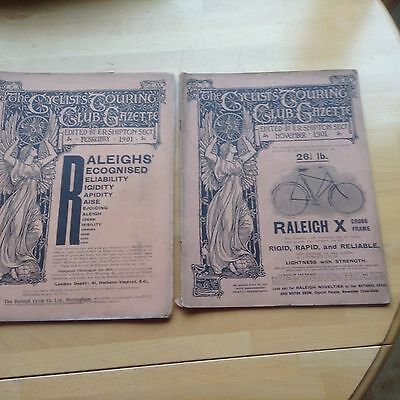 The CTC Gazette 1901 Feb and Nov two issues complete