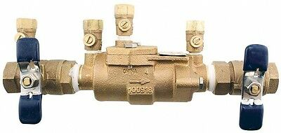 Double Check Valve Assembly 3/4 In Bronze Backflow Preventer Water Safety FIP