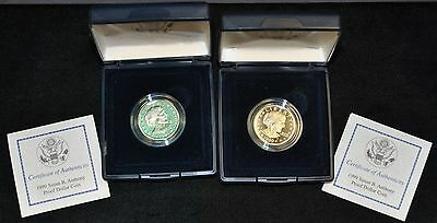 1999-P SUSAN B. ANTHONY PROOF DOLLAR COIN WITH BOX Lot of 2