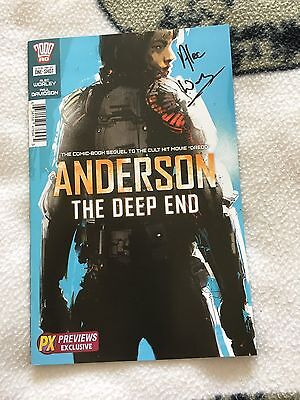 2000AD  anderson the deep end comic signed by author