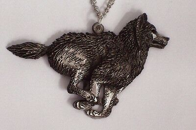 Run of the Black Wolf Pendent.   New Design
