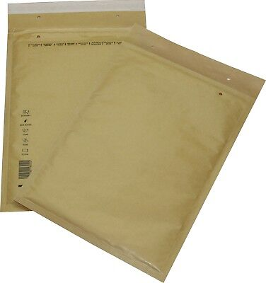 100 Pieces Padded Mailing Envelopes Size 7 G Brown 250x350 Envelopes DIN A4+C4