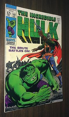 INCREDIBLE HULK #112 -- February 1969 -- Herb Trimpe -- F Or Better