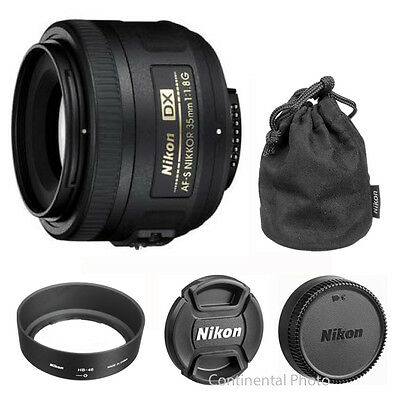 Nikon 35mm f/1.8G AF-S DX Nikkor Lens for Nikon Digital SLR Cameras NEW 2183
