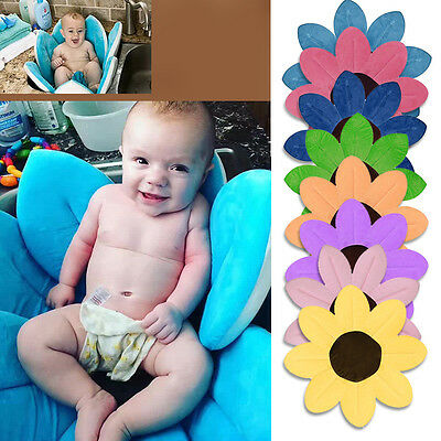Baby Bath Support Mat Super Soft Lotus Newborn toddler Bath Seat Plush Mat Gift